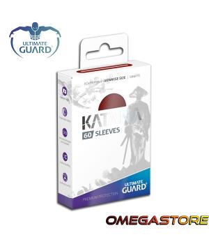60 pochettes Katana Rouge - taille Japonaise- Ultimate Guard