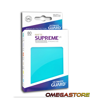 Ultimate Guard 80 pochettes taille standard Aigue-marine Matte