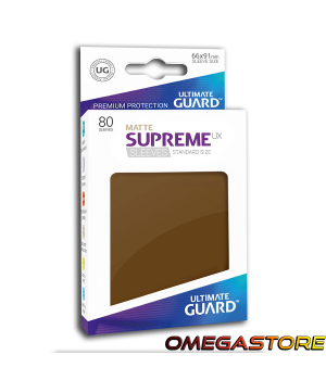 Ultimate Guard 80 pochettes taille standard Gris Marron Matte