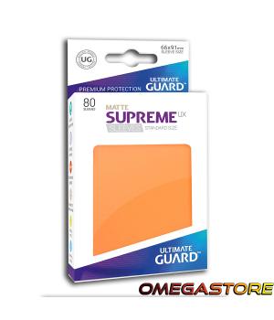 Ultimate Guard 80 pochettes taille standard Gris Orange Matte