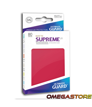 Ultimate Guard 80 pochettes taille standard Rouge Matte