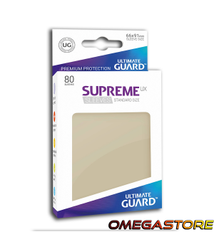 Ultimate Guard 80 pochettes taille standard Sable