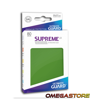 Ultimate Guard 80 pochettes taille standard Vert