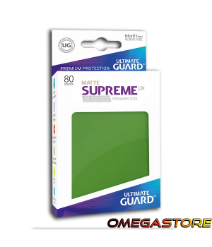 Ultimate Guard 80 pochettes taille standard Vert Matte