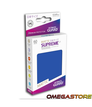 60 pochettes Bleu Matte - taille Japonaise  - Ultimate Guard