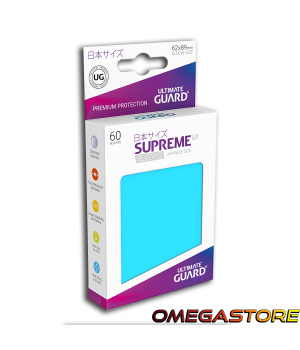 60 pochettes Bleu Clair - taille Japonaise  - Ultimate Guard