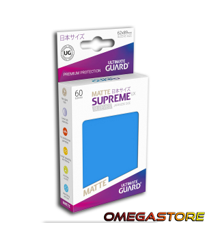 60 pochettes Bleu Roi Matte - taille Japonaise  - Ultimate Guard