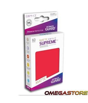 60 pochettes Rouge Matte - taille Japonaise  - Ultimate Guard
