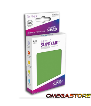60 pochettes Vert - taille Japonaise  - Ultimate Guard